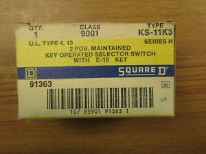 NIB.. Square D 2 Position Selector Switch Cat# 9001KS11K3 ..  VO-25D