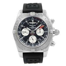 Breitling Chronomat GMT сталь черный циферблат часы автоматическая AB042011/BB56-153S