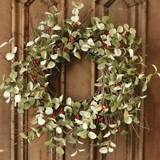 "Winter Silver Dollar 24"" Wreath"