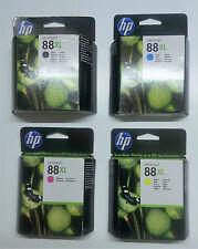 4 x HP original 88xl negro cian amarillo magenta OfficeJet pro l 7555 7550 - 2014