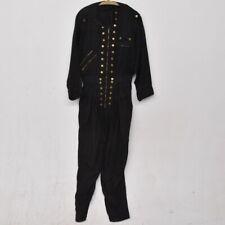 k01g83- Vintage Damen Overall, Seide/ Baumwolle