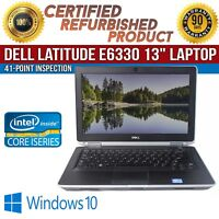 "Dell Latitude E6330 13.3"" Intel i7 4GB RAM 250GB HDD Win 10 WiFi B Grade Laptop"