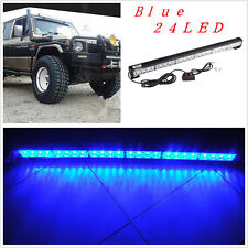 4x4 Suv Pickup Emergency Strobe Bumper/Roof Light Caution 24Led Bulb Blue Lamp
