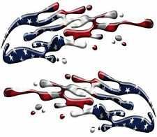 Boat Car Truck Trailer Motorcycle Racing Graphics Decals Stickers Wrap USA Flag