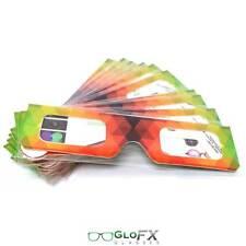 GloFX Paper Cardboard Geometric Rainbow Firework Light Show Glow Party 100 Pack