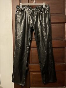 Vintage Tripp Nyc Mens Faux Leather Pants Size 36 Goth Emo Metal