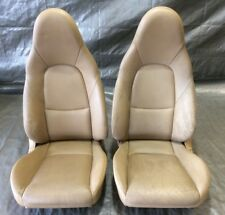 2001-2005 Mazda Miata Seats / Tan Leather / Factory / Fits: 1990-2005 / NB034