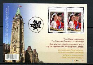 Canada MNH #2477b Souv Sheet Royal Wedding Royal Tour 2011  K696