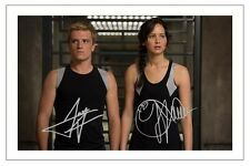 JENNIFER LAWRENCE JOSH HUTCHERSON THE HUNGER GAMES SIGNED PHOTO PRINT AUTOGRAPH