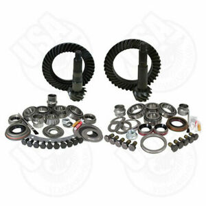 USA Standard Gear & Install Kit package for Jeep TJ with D30 front & Model 35 re