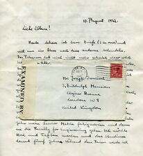 Canada POW / Jewish Refugee Camp 1942 Sherbrooke QC - Censor Cover w/ Letter -