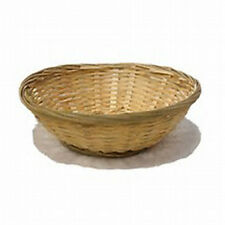 Set Of 2 Round Natural Wicker Round Hamper Bread Fruit Gift Storage, Bamboo Bask