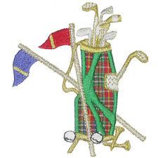 Golf Bag & Flags Iron On Applique