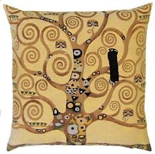"""NEW 18"""" 45CM KLIMT TREE OF LIFE FROM STOCLET FRIEZE TAPESTRY CUSHION COVER 4987"""