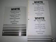 White Yard Boss LGT-1110 & LGT-1610 Manual Set