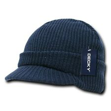 New Navy Blue Visor Beanie Jeep GI Military Ski Watch Cap Caps Hat Hats Beanies