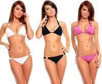 MAILLOT DE BAIN TOP SEXY BIKINI TRIANGLE REMBOURRE FASHION FEMME T.36 38 40 42