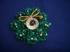 Christmas Wreath Pin, 2""