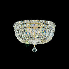 Flush Mount 5-Light Deluxe Swarovski Crystal Lighting Fixture Ceiling SILVER New