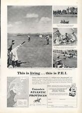 1958 Canadian Government Travel Golf on Prince Edward Island PEI PRINT AD