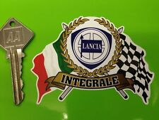 LANCIA DELTA INTEGRALE Garland Flags & Scroll classic car sticker 8V 16V Evo
