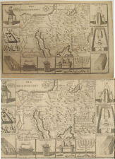 c. 1742 Map The Israelites' Journey in the Desert from Egypt through Jordan