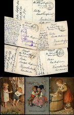 GERMANY WW1 MILITARY FIELD POST 1916-18 PPCs CHILDREN...5 CARDS