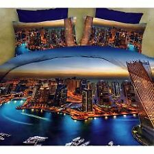 3D Bedsheet Dubai Live Theme Single Queen King Bedding Set with Pillowcase