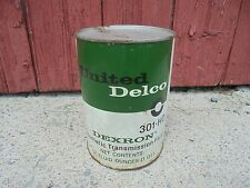 Vintage United DELCO Dexron Tranny Fluid FULL CAN 1QT Gas & Oil Advertising