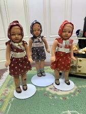 Set 3 Vintage Bisque Jointed Md In Japan Sisters Original Outfits