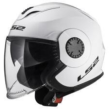 Ls2 casco moto Jet Of570 verso Solid blanco L