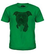 Staffordshire Bull Terrier Sketch Kids T-Shirt Top Great Gift Dog Staffie Staffy