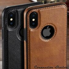 Ultra Thin Case For iPhone X 6S 7 XS Max XR Luxury Vintage PU Leather Back Cover