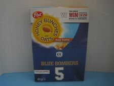 CFL Winnipeg Blue Bombers Post Honey Bunches of Oats Jersey Cereal Box
