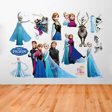 Disney Frozen Elsa Anna Wall Stickers Decal Removable Home Decor Kids Art Mural