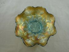 Lovely Fenton Aqua Holly Carnival Glass Bowl / Plate