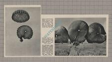 C3553) 8081st Quartermaster Airborne Army Unit Parachutes - 1952 Clip