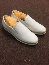 Brand New Mens Tods White Slip Ons 7/8 UK