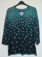 New Mistral Snowflake Border  Tunic Blouse Top size 12 - 18
