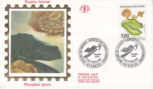 Enveloppe maximum 1er jour CEF 1992 - Nature Fleurs Nénuphar Jaune
