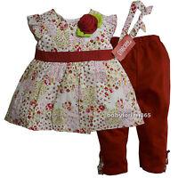NWT Gymboree Baby Girls Shirt legging & Matching Headband Size 12 18 24 months