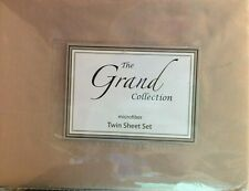 The Grand Collection 3 Piece Light Brown Twin Bed Sheet Set NEW