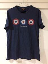 8f8b5f2b2a71 Ben Sherman Mens Navy Blue Graphic Print T Shirt Size M Good Condition