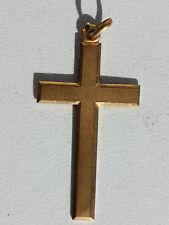 Cruz de Metal Dorado - Colgante Antiguo - 3,5 X 2CM - 1,6 G
