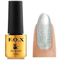 F.O.X Fox Gel Nail Polish Base, Top, Rubber, Strong, Cover, No Wipe Top OPAL