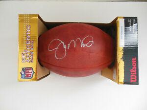 JOE MONTANA SIGNED AUTOGRAPHED OFFICIAL NFL WILSON FOOTBALL w/BECKETT BAS COA