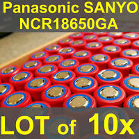 (x10) Lightly Used Sanyo/Panasonic NCR18650GA 3500mAh (JPN) 10A 3.63V 12.70Wh