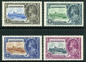 British 1935 KGV Silver Jubilee British Honduras Set Scott # 108-111  Mint C464