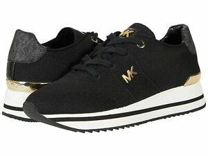 NIB Size 9.5 Michael Kors Monique Knit Running Trainer Sneakers Shoes Black