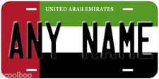 United Arab Emirates Flag Any Name Novelty Car License Plate